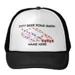 Personalized Beer Pong Queen Trucker Hat