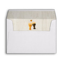 Personalized Beer Toast, Light Wood, Brewery Lined Envelope