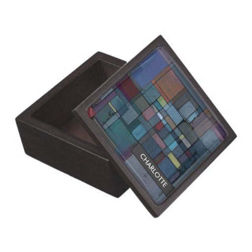 Personalized Before Dawn Abstract Gift/Trinket Box