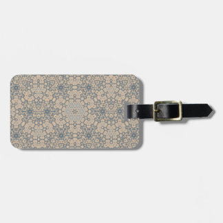 Personalized Beige and Blue Tapestry Luggage Tag