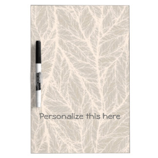 Personalized Beige Leaf Network Dry Erase Board