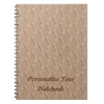 Personalized Beige Sculpted Pattern Notebook