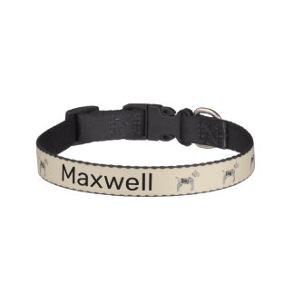Personalized Beige Trendy Dog Word Cloud Pet Collar