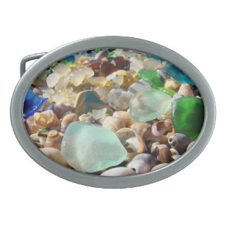 Personalized Belt Buckles Beach Seaglass Shells