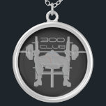 """Personalized Bench Press Weightlifting Necklace<br><div class=""""desc"""">Personalize this necklace by changing the weight amount or change the text to BENCH PRESS.</div>"""