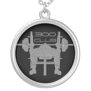Personalized Bench Press Weightlifting Necklace