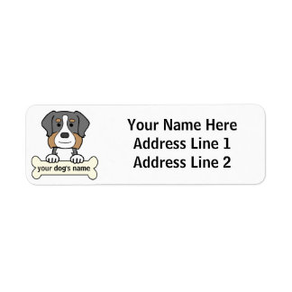Personalized Bernese Mountain Dog Label