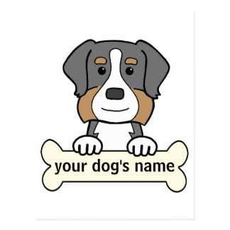 Personalized Bernese Mountain Dog Postcard