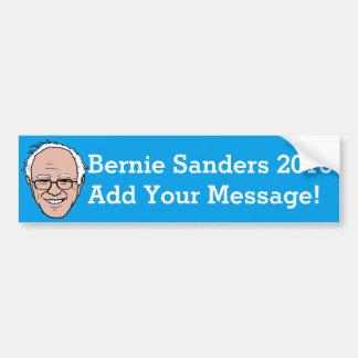 PERSONALIZED Bernie Sanders Cartoon Face Bumper Sticker