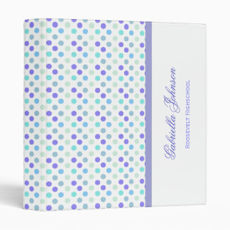 Personalized: Berry Polka Dot Binder