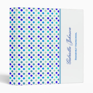Personalized: Berry with Blue Polka Dot Binder