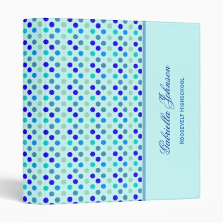 Personalized: Berry with Blue Polka Dot Binder 2