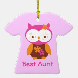 Personalized Best Aunt Owl Keepsake Ornament Gift