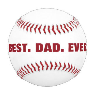 Personalized Best Dad Ever baseball