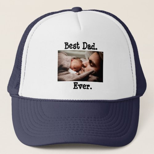 Personalized Best Dad Ever Baseball Cap