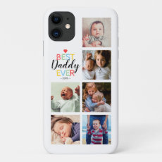 Personalized Best Dad Photo Collage iPhone 11 Case