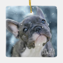 Personalized Best Dog or Puppy Picture Name Photo Ceramic Ornament