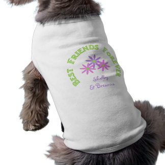 Personalized Best Friends Forever Doggy Tshirt Doggie Shirt
