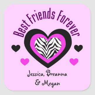 Personalized: Best Friends Forever Stickers
