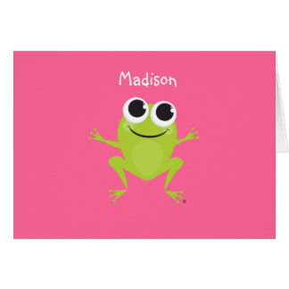 Personalized Best Life FROG Notecard Card
