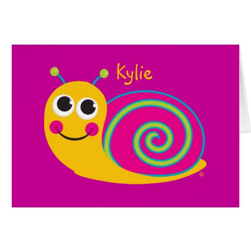 Personalized Best Life SNAIL Notecard Stationery Note Card