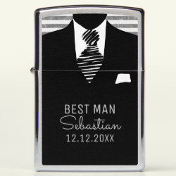 Personalized Best Man Suit and Black Tie