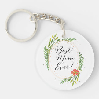 Personalized Best Mom Ever Keychain