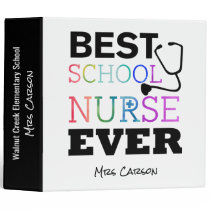 Personalized Best School Nurse Ever Notes Binder