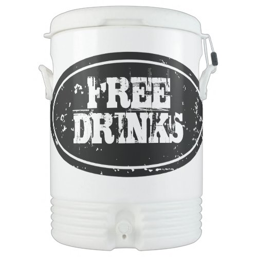 Personalized beverage cooler   Large 10 gallon