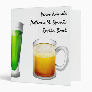 Personalized  Beverage Recipe Binder (small)