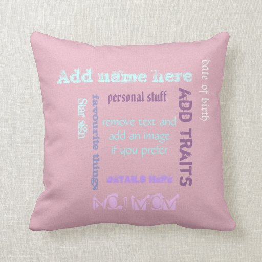 Personalized BFF best friends forever wordcloud Pillows