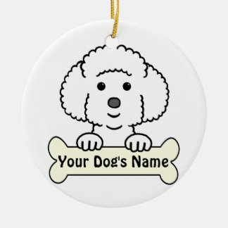 Personalized Bichon Frise Ceramic Ornament