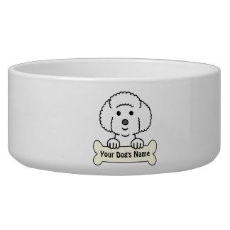 Personalized Bichon Frise Dog Food Bowls