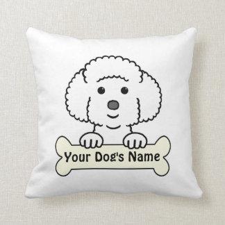 Personalized Bichon Frise Throw Pillow
