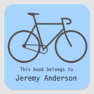 Personalized Bicycle Bookplate Sticker