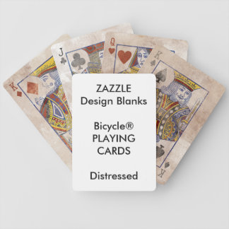 Personalized Bicycle® DISTRESSED Playing Cards
