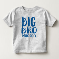 Personalized BIG BRO Blue Toddler T-shirt