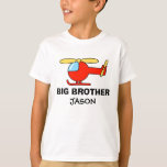 Personalized big brother helicopter shirt for boys