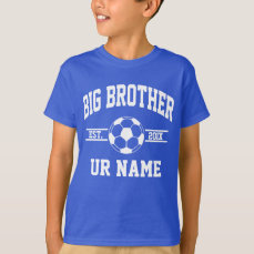 Personalized Big Brother Soccer T-Shirt