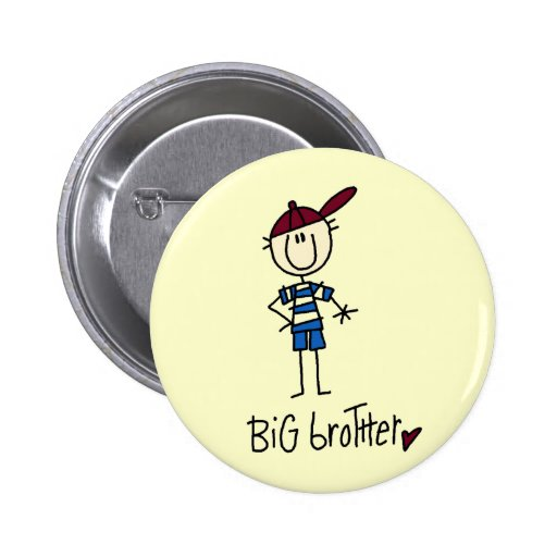 Personalized Big Brother Tshirts and Gifts Button