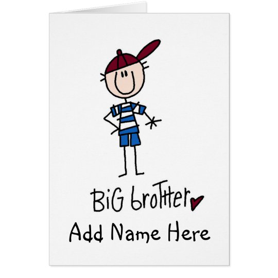 Personalized Big Brother Tshirts and Gifts Card