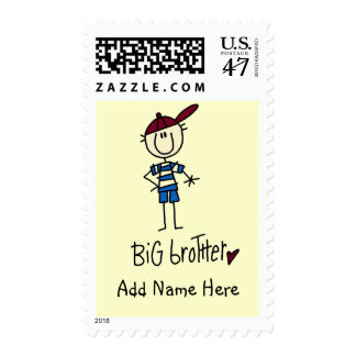 Personalized Big Brother Tshirts and Gifts Postage Stamp