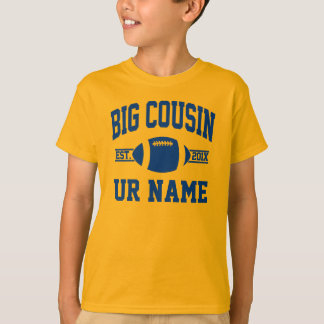 personalized big cousin football T-Shirt