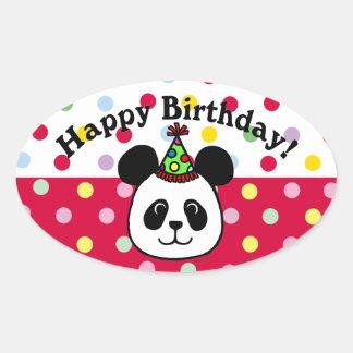 Personalized Big Face Panda Cartoon Sticker