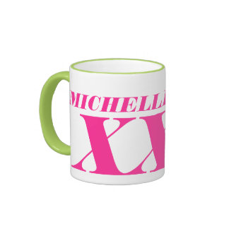 Personalized big giant jumbo XL large coffee mug