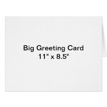Beach Themed Personalized Big Greeting Card