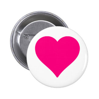 Personalized Big Pink Love Heart Button