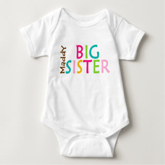 Personalized Big Sister Baby One Sie Body Suit Shirts
