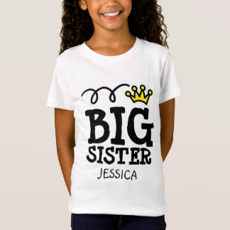 Personalized Big sister t shirt for older sibling