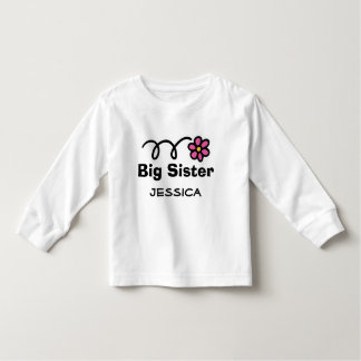 Personalized Big Sister t-shirt for older sibling